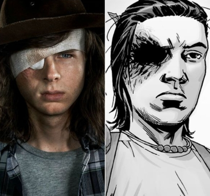 Carl comic vs show